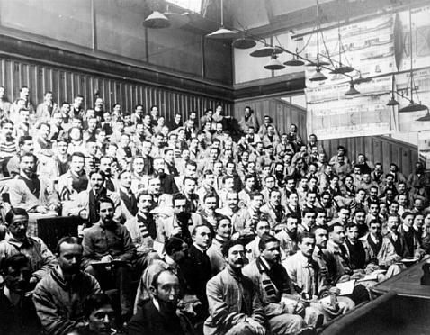 Amphi de l'école Centrale 1910